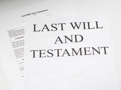 Image of last will and testament drafted by lawyer